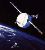 NASA image of a Tethered Satellite